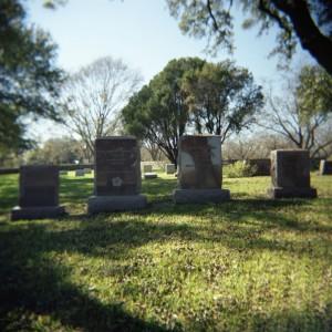 Gravestones for President and Mrs. Johnson in the Johnson Family Cemetery