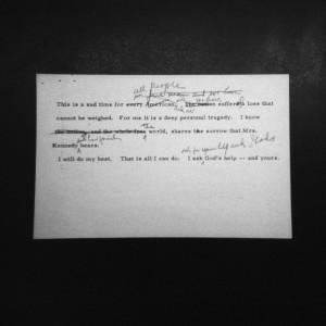 President Johnson's speech by Liz Carpenter at the LBJ Library & Museum