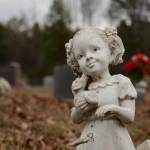 Kildare Cemetery Girl Statuette