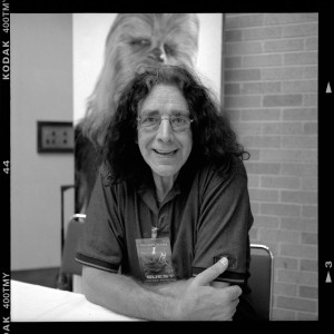 Actor Peter Mayhew at the Comic Con in June 2006 (photo by Mr. Holga)